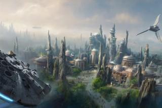 A artist concept of Disney's Star Wars-themed land.