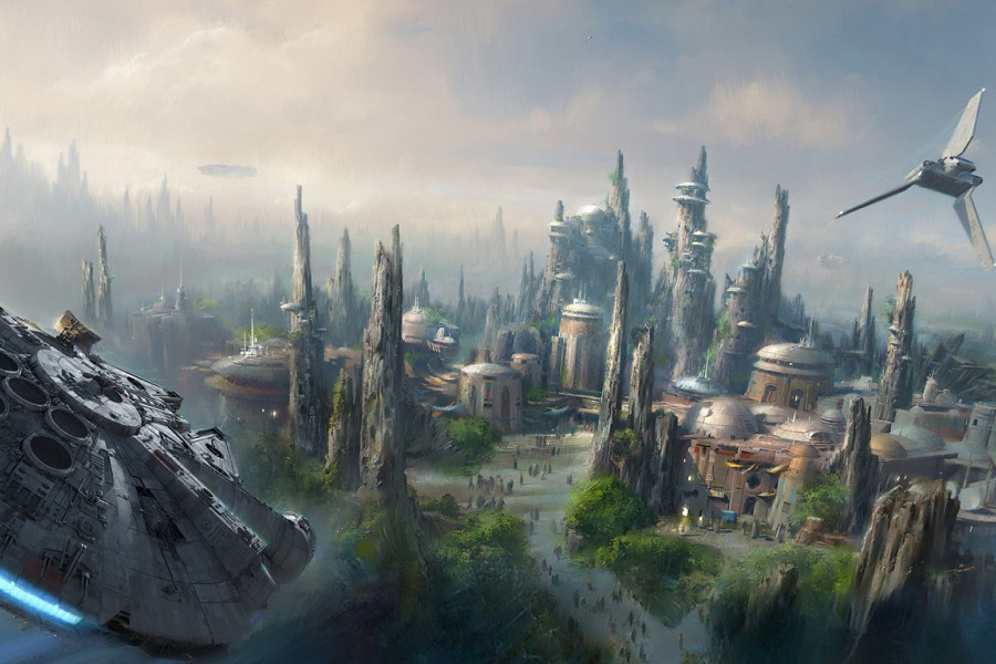 A artist concept of Disney's Star Wars-themed land.