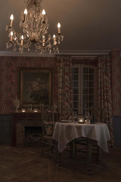 The interior is inspired by 18th century France.