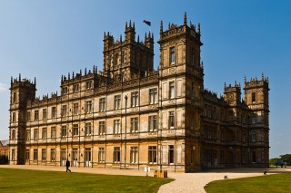 The Highclere Castle in Yorkshire, where the period drama Downton Abbey was filmed.