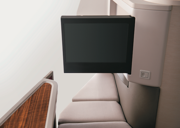 Touch screen monitors are programmed for seat adjustments.