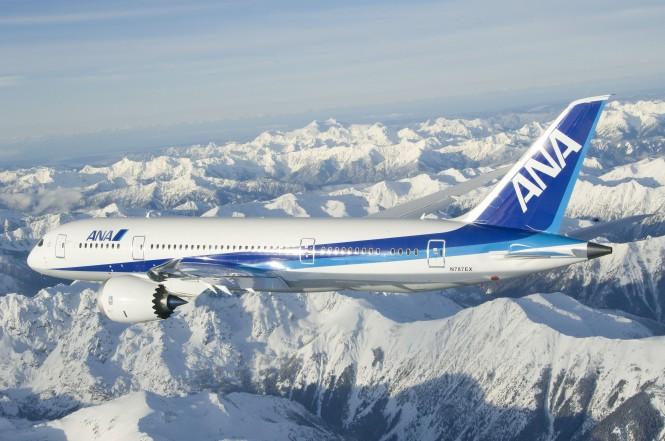 The ANA Boeing 787 Dreamliner.