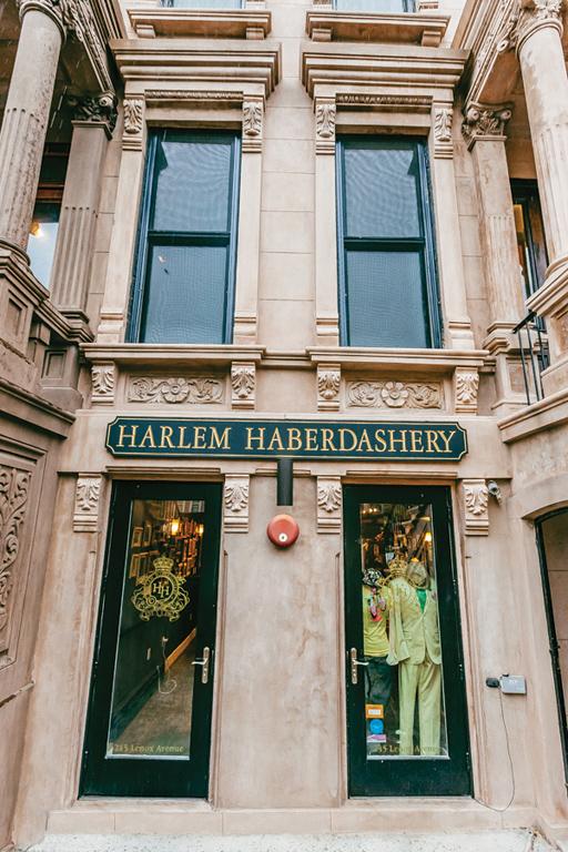 The entrance to Harlem Haberdashery.