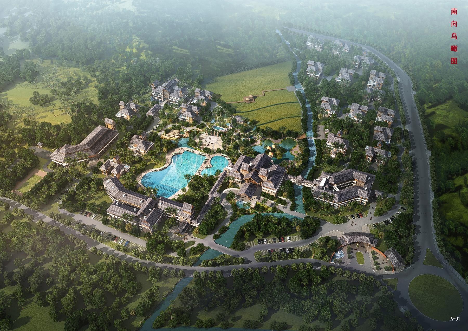 An aerial view of the Dusit Devarana Hainan