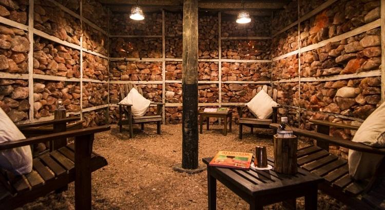 The Himalayan Salt Room at Dwarika's Resort Dhulikhel.