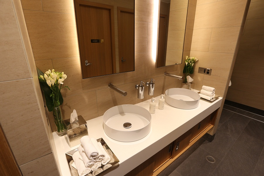 Bathrooms feature private shower facilities.