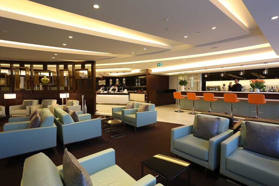 The new lounge offers abundant seating for rest and relaxation.