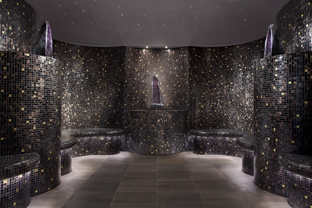 The Crystal Steam Room in ESPA's facilities.