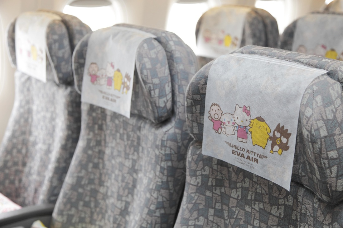 Hello Kitty head rests and pillows will help passengers unwind.