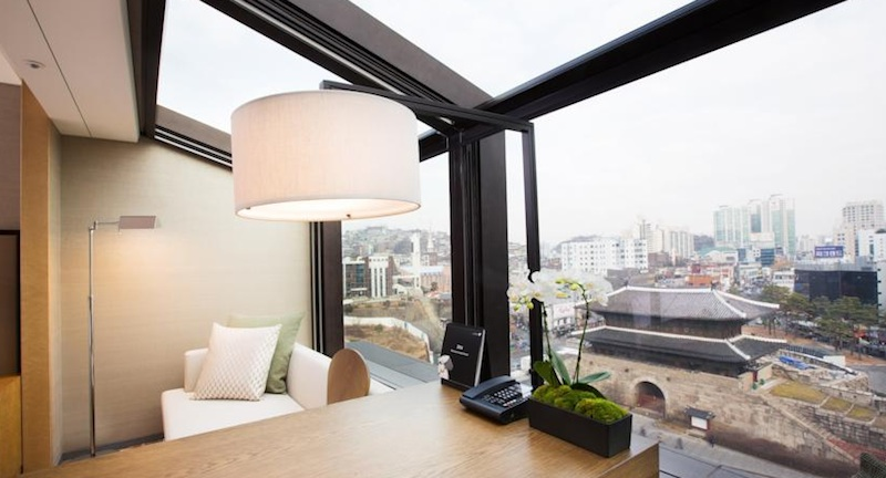 A room with a view of the city's fabled East Gate.