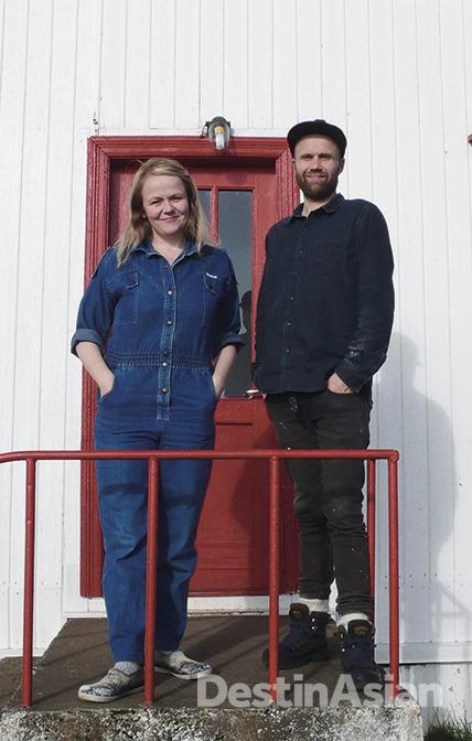 Berglind Häsler and Svavar Pétur Eysteinsson at their farm in Berufjörður.