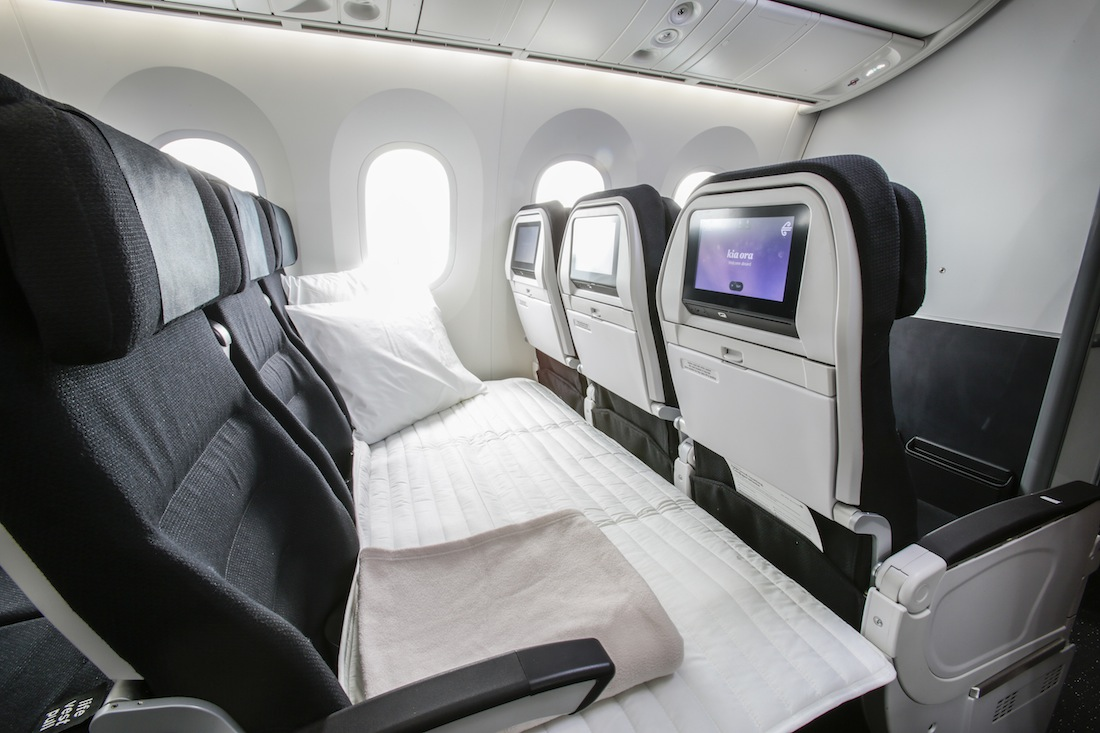 The airline's signature economy Sky Couch.