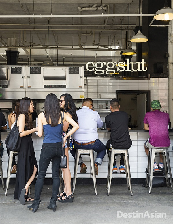 The Eggslut counter at Grand Central Market.