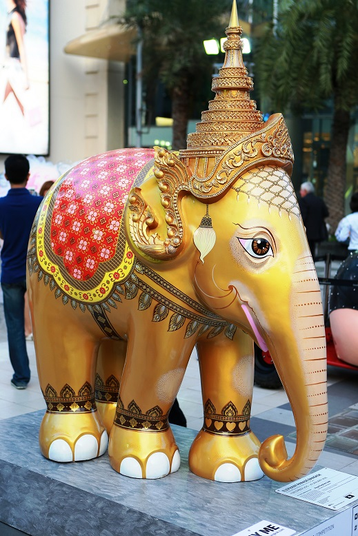 The Royal Elephant, one of the 88 elephant statues featured in the exhibition.