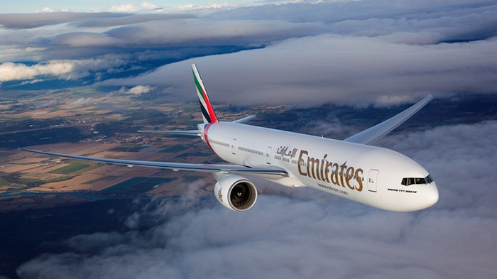 One of Emirates's Boeing 777-300ER aircraft.