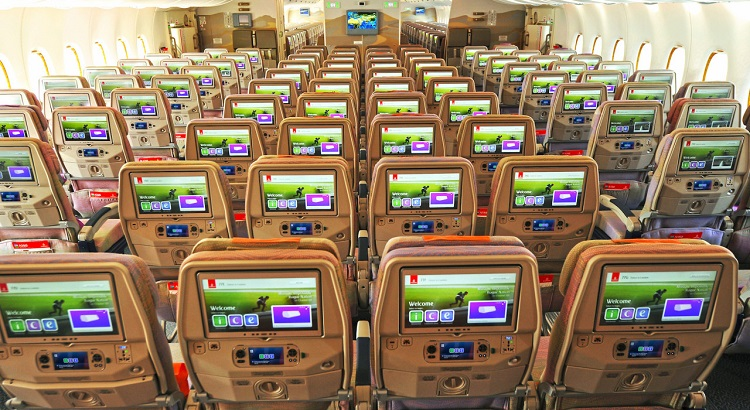 The economy-class cabin now comes with 13.3-inch screens, complete with a USB port and a PC power outlet.