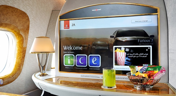 First-class passengers can enjoy a more immersive experience with new 32-inch screens.