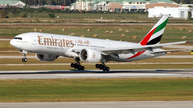 Emirates flew the A380 its inaugural Dubai–Auckland flight before switching to the Boeing 777.