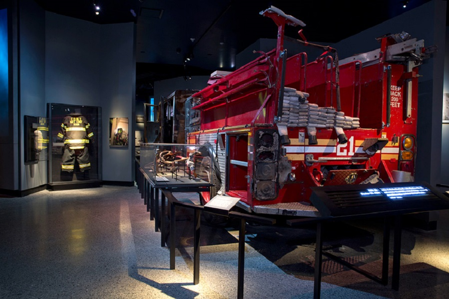 A firetruck that served on 9/11 still intact.