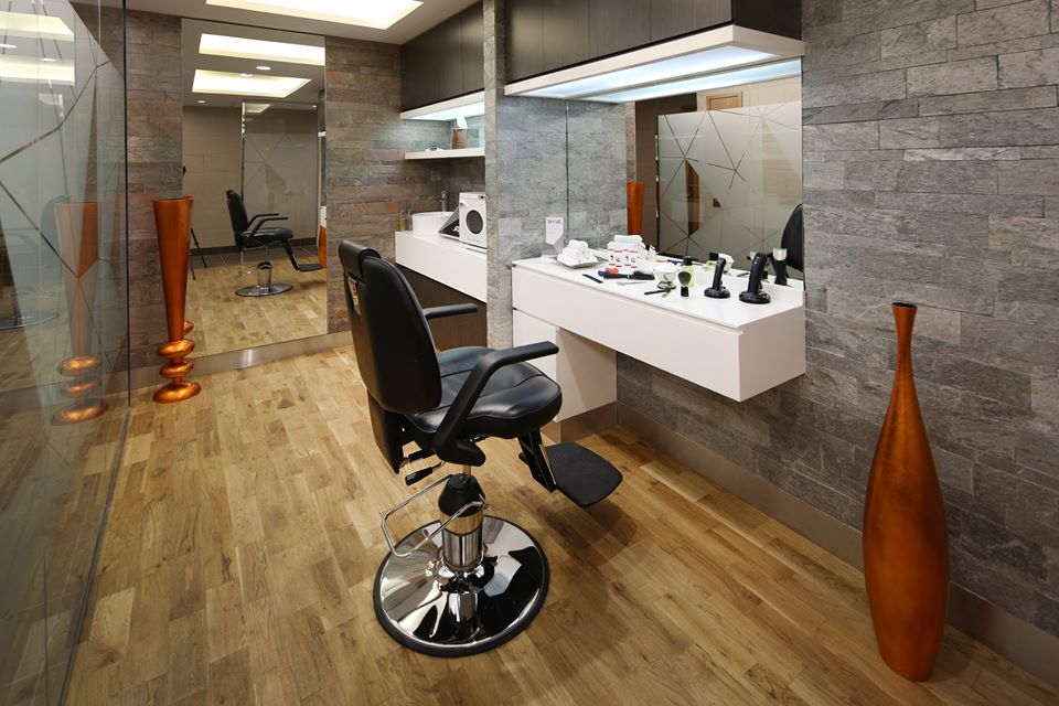 Enjoy a wet shave by trained barbers.