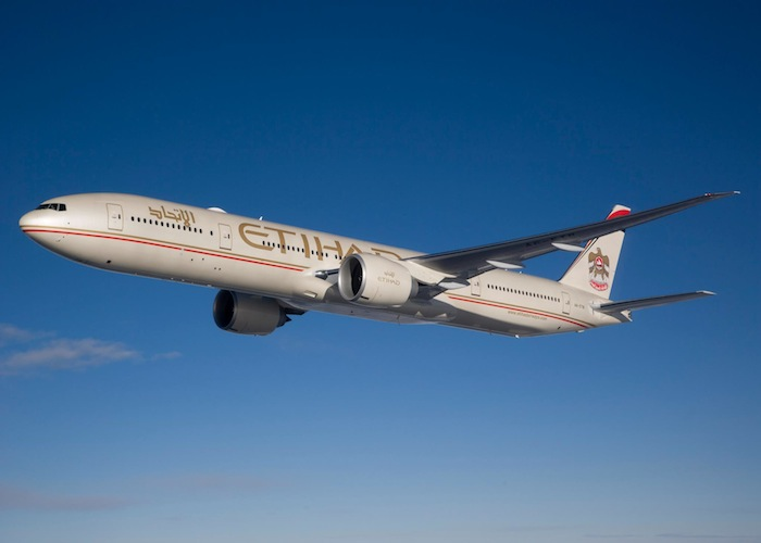 Etihad's Boeing 777 will service the non-stop route to Dallas.