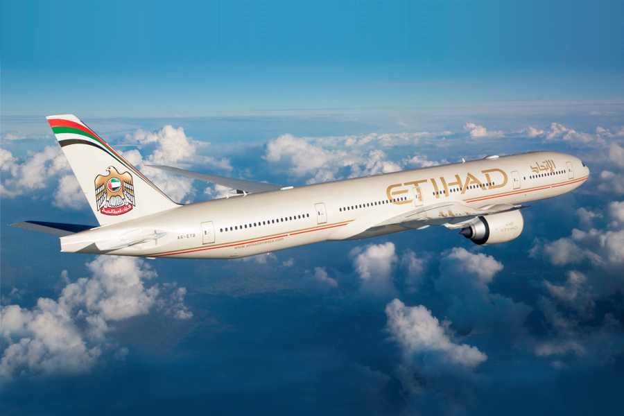 All flights between Abu Dhabi and the U.S. are serviced with Etihad's B777-300.