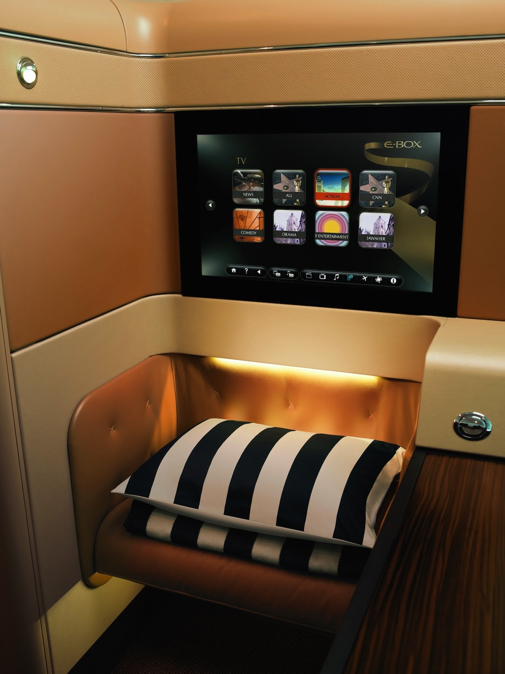 Etihad will screen World Cup matches aboard all of their long-haul flights.