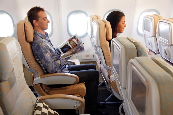 Etihad's Economy Class seating.