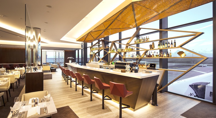 The bar area at the new Premium Lounge.