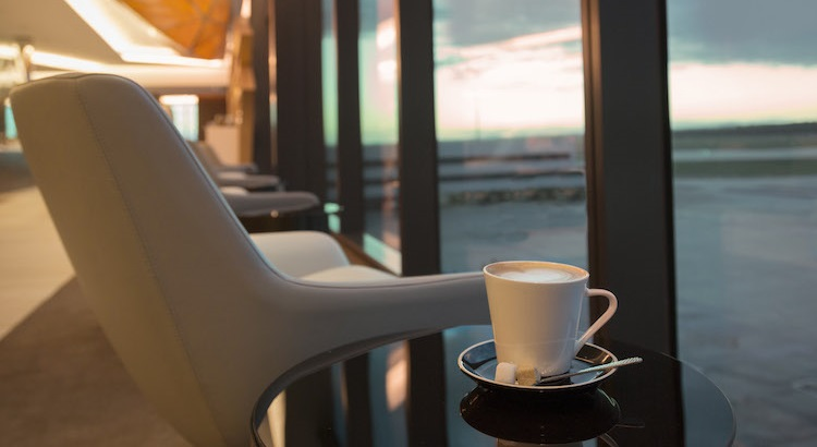 The new Premium Lounge in Melbourne features a wide view of the airfiled through its floor-to-ceiling glass windows.