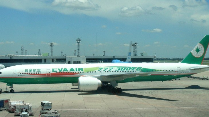 The Taiwanese carrier's 777-300ER aircraft, which is servicing the route.