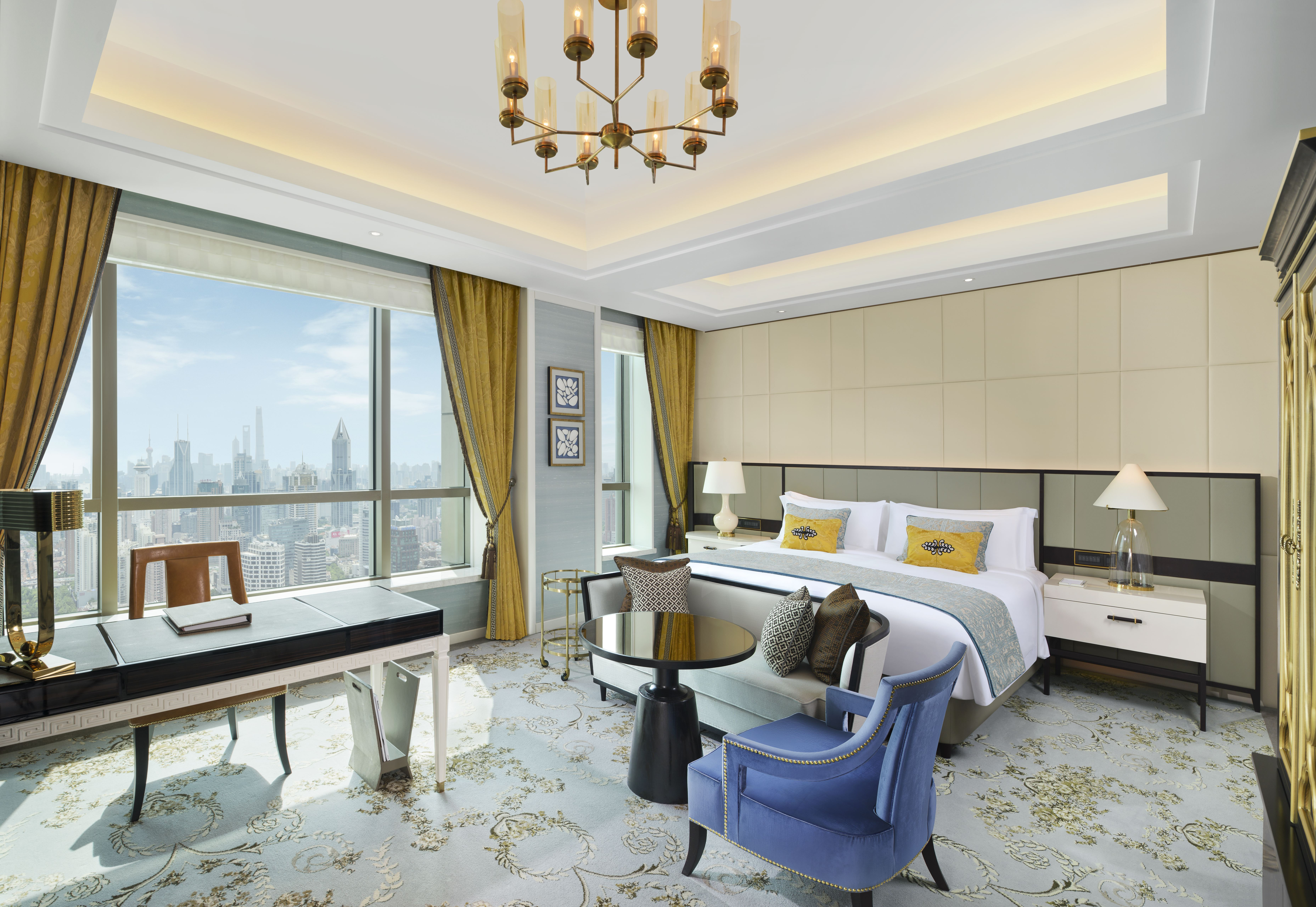 Inside one of the hotel's executive deluxe rooms boasting panoramic views of the city.