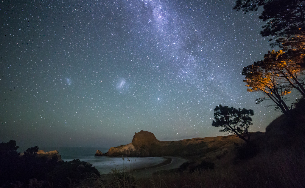 Stargazing at Castlepoint in Wairarapa.