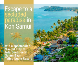 Win a spectacular 3-night stay at Intercontinental Samui Baan Taling Ngam Resort