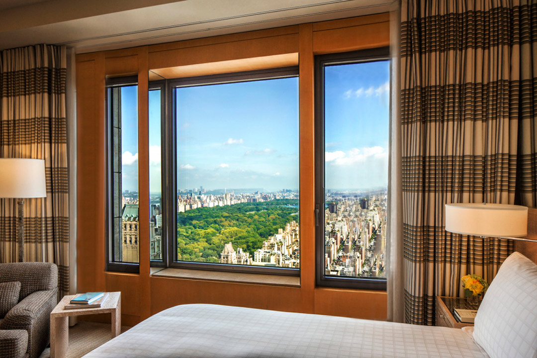 Inside Four Seasons Hotel New York's Central Park Suite.
