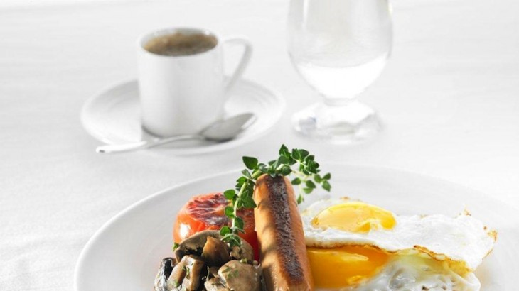 Eggs served sunny side up from the Chef-on-Call menu.
