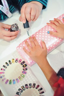A nail session at Little Spa Kingdom. Photo courtesy of