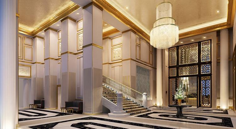 The lobby at Four Seasons Hotel Jakarta.