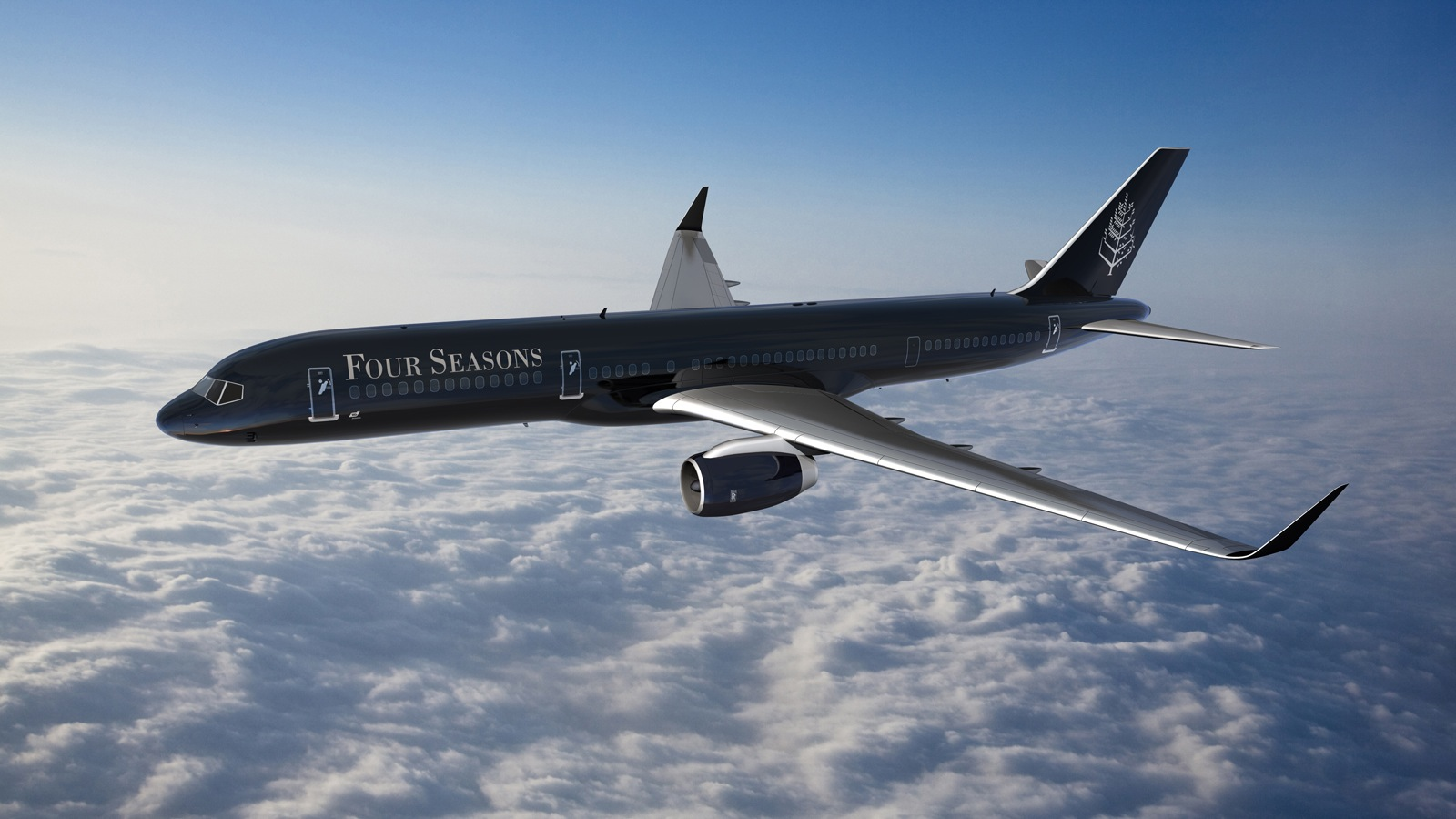 The Four Seasons' private jet will transport guests on its Around the World journeys.