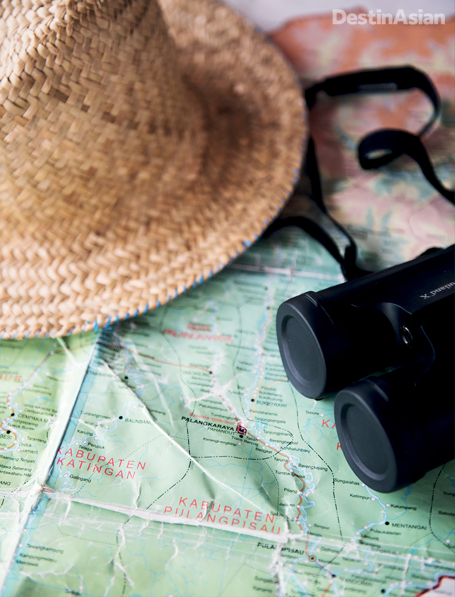 A route map and bird-watching binoculars are compulsory accessories.