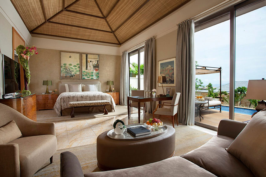 The family villa at the Mulia resort complex.