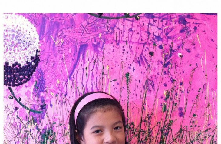 11-year-old Singaporean artist Gelyn Ong.
