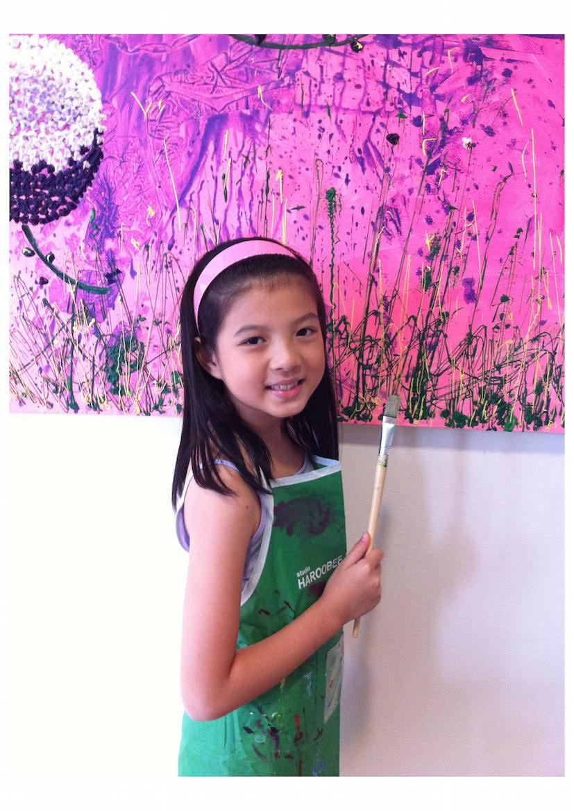 11-year-old Singaporean artist Gelyn Ong.