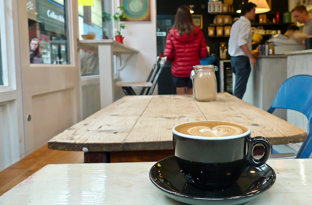 An artisan cup of joe from Federation Coffee. Photo courtesy of Londonist