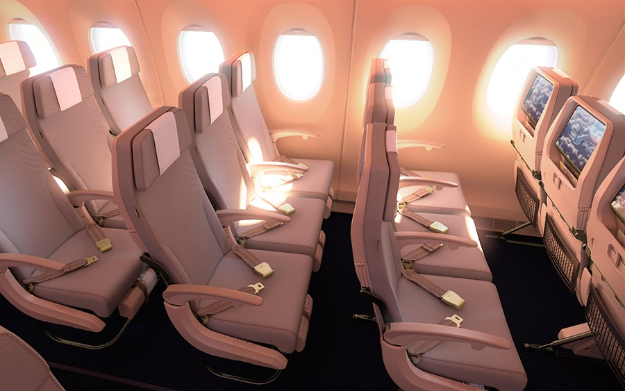 The new aircraft comes with upgraded features, including in-flight Wi-Fi.