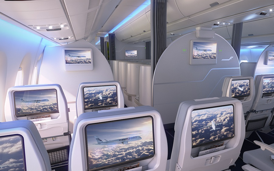 11-inch touchscreens in the aircraft's economy class.