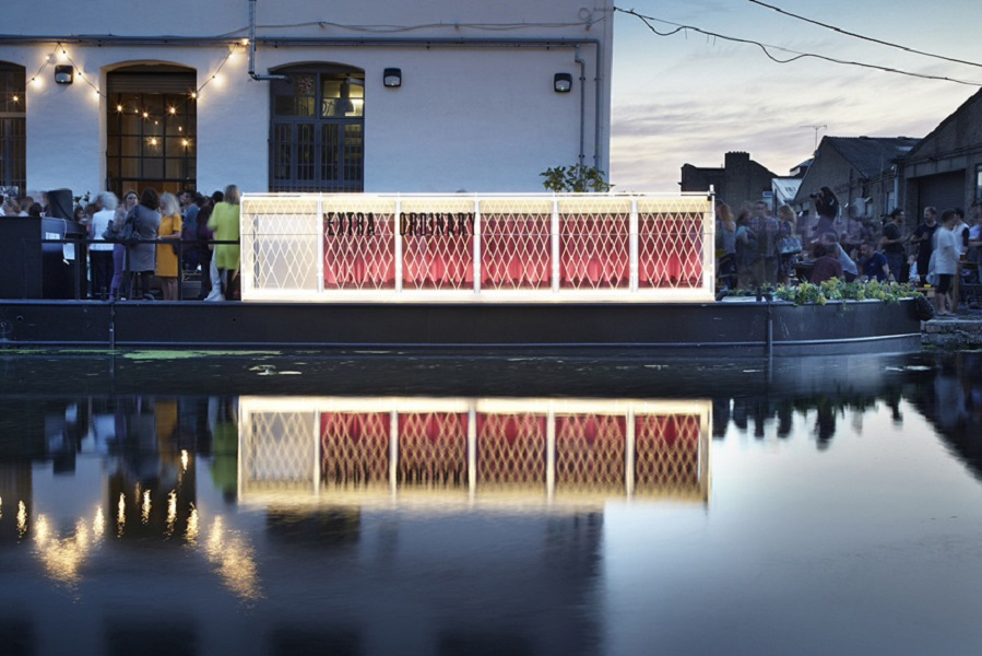Installations such as the Floating Cinema pop up around the city throughout the month of June