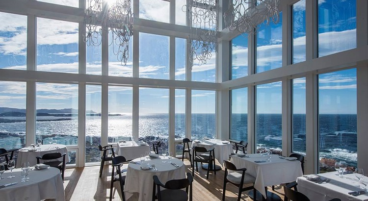 The dining area at Fogo Island Inn.