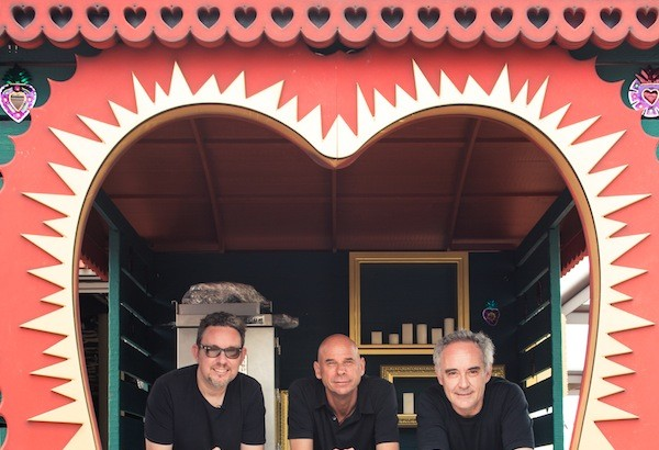 From left, the founders of Heart Ibiza: Albert Adria, Guy Laliberte, and Ferran Adria.