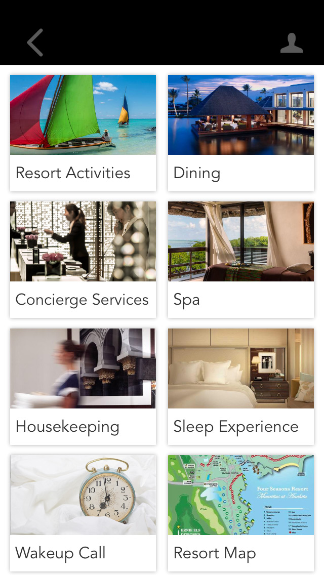 Travelers can easily access Four Seasons' features through the app.